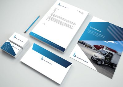 Printed branded promotional materials for client